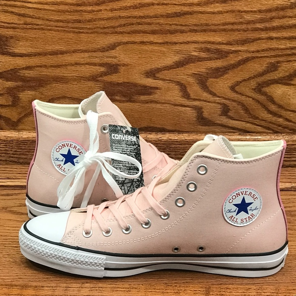 bbcf86903ecc Converse CTAS Pro Hi Vapor Pink Glow Natural Shoes